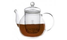 Skleněná konvice na čaj se sítkem, 1L
