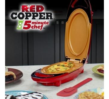 Multifunkční oboustranná pánev - 5minute CHEF - red COPPER PAN