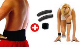 Set magnetickýck pásků 3v1 - speciální balíček - 1x pás na koleno, 1x na zápěstí, 1x na kříže