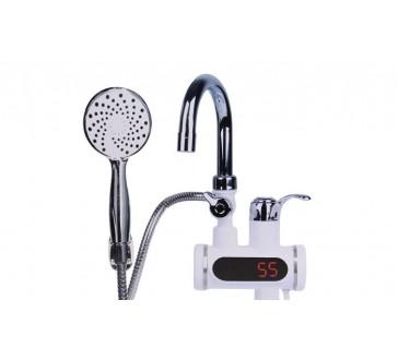 Digitální vodovodní baterie s elektrickým ohřevem vody a sprchou