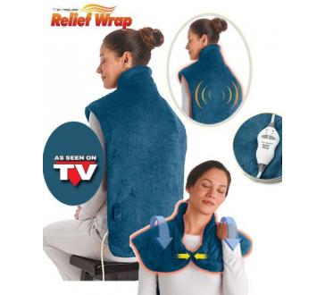 Vyhřívaná elektrická deka na krk, ramena a záda Relief Wrap