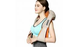 Masážní shiatsu přístroj na tělo, krk, ramena s infra vyhříváním