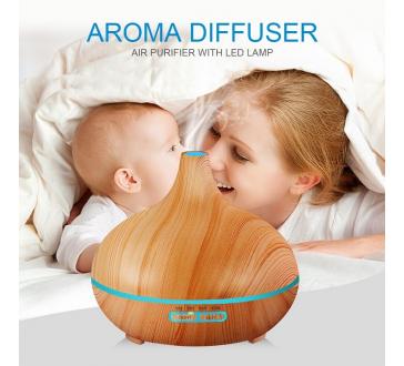 Ultrazvukový AROMA DIFUZÉR Ionizátor vzduchu s dálkovým ovládáním
